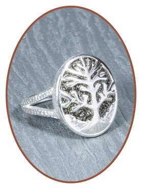 JB Memorials 925 Sterling Silver 'Tree of Life' Cremation Ring - RB132