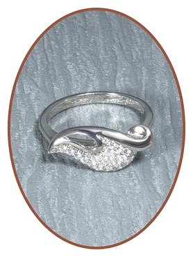 JB Memorials 925 Sterling Silver Cremation Ring - RB055