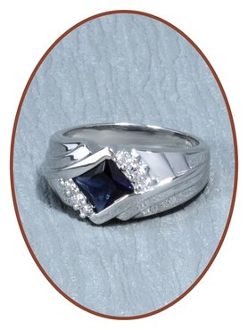 925 Sterling Silver CZ Cremation Ring - RB056