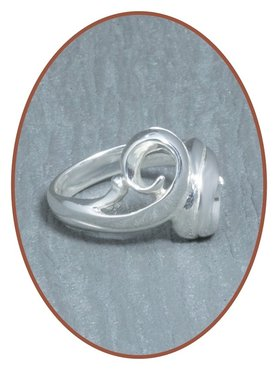 JB Memorials 925 Sterling Silver Cremation Ring - RB073