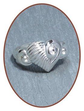 JB Memorials 925 Sterling Silver Cremation Ring - RB079