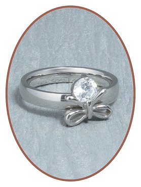 Stainless Steel CZ Cremation Ring - RB090