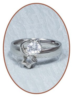 Stainless Steel CZ Cremation Ring - RB091