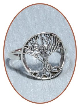 JB Memorials 925 Sterling Silver 'Tree of Life' Cremation Ring - RB106