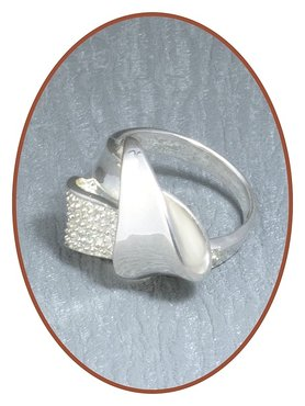 JB Memorials 925 Sterling Silver Cremation Ring - RB034
