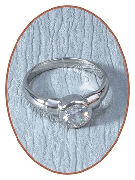 Stainless Steel CZ Cremation Ring - RB040