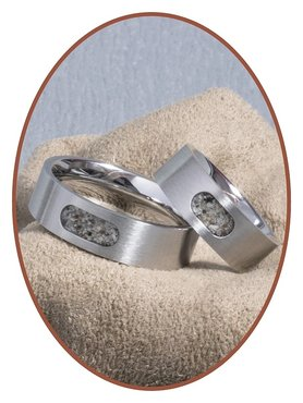 JB Memorials Stainless Steel Unisex Cremation Ash Ring - RB044