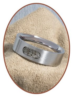 JB Memorials Stainless Steel Unisex Partner Sand or Ash Ring - RB044R