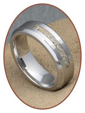 JB Memorials Cobalt Chrome Mens Cremation Ring - RB045CCM