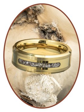 JB Memorials Tungsten Carbide Gold Special Cremation Ring - RB045G