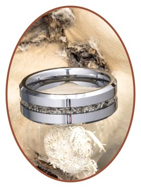 JB Memorials Tungsten Carbide Special Men Cremation Ring - RB048H