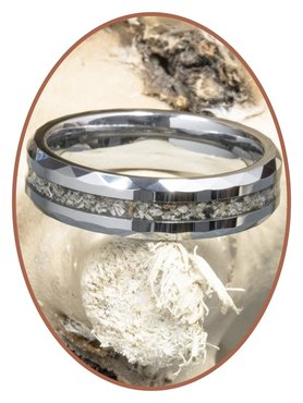 JB Memorials Tungsten carbide Facet special cremation ring - RB049