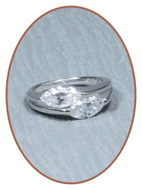 925 Sterling Silver CZ Cremation Ring - RB013