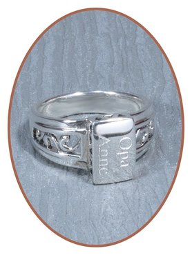 925 Sterling Silver Cremation Ring - RB018