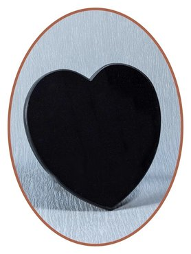 Luxury Remembrance Stone in Black Marble Heart - MAR002