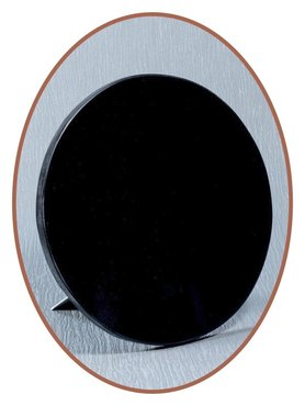 Luxury Remembrance Stone in Black Marble Round - MAR003