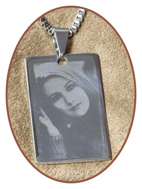 Stainless Steel Photo Remembrance Pendant - PAC369