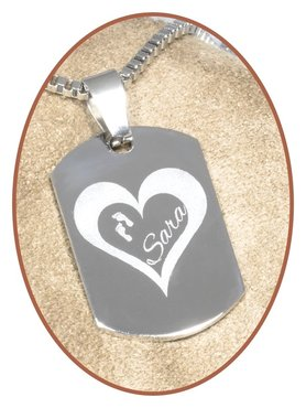 Stainless Steel Engraving Remembrance Pendant - PAC374