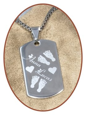 Stainless Steel Engraving Remembrance Pendant - PAC376