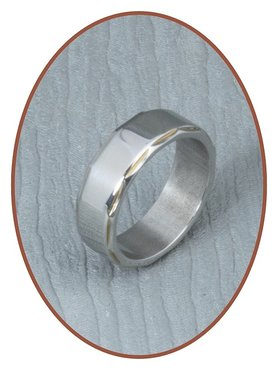 316L Stainless Steel Text Remembrance Ring - PFX2446
