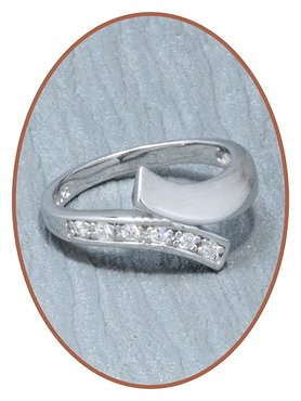 JB Memorials 925 Sterling Silver Cremation Ring - RB001-Z