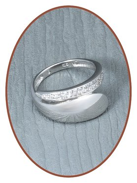 JB Memorials 925 Sterling Silver Cremation Ring - RB003