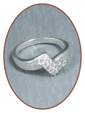 JB Memorials 925 Sterling Silver Cremation Ring - RB007
