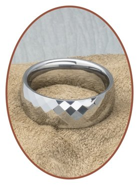Tungsten Carbide Text Remembrance Ring - KR4000