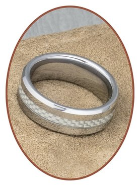Tungsten Carbide Text Remembrance Ring - KR562