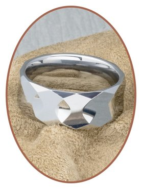 Tungsten Carbide Text Remembrance Ring - KR8059