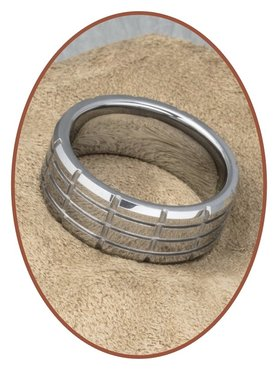 Tungsten Carbide Text Remembrance Ring - KR8064