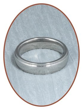 316L Stainless Steel Text Remembrance Ring - KR9598