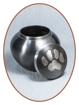 Mini Urn Brass 'Paw Print' - M165
