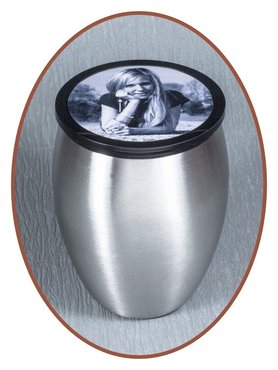Stainless Steel Midi Urn 'Picture' - M288F