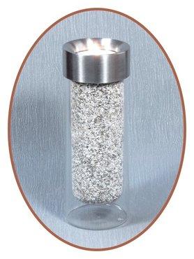 Stainless Steel Glass Midi Urn tealight Holder  - M298
