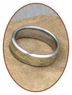Tungsten Carbide Text Remembrance Ring - KR3108