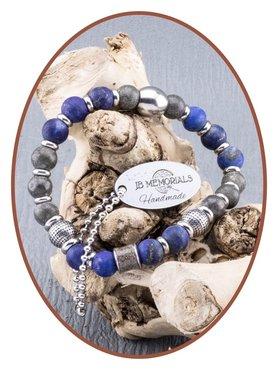 JB Memorials Lapiz Lazuli / Pyrite Ladies Ash Bracelet - KHA011