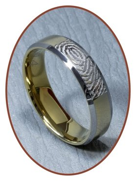 Tungsten Carbide Fingerprint Remembrance Ring - AA002V