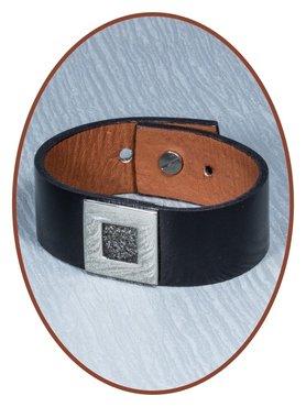 Leatherette Cremation Ash Bracelet  - AB218