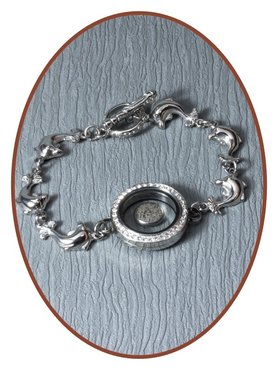 Stainless Steel Cremation Ash Bracelet  - AB195