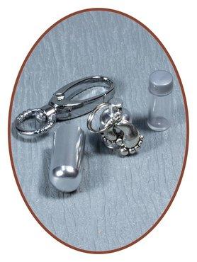 Aluminium Cremation Ash Keyring 'Feet'  - ALU03VO