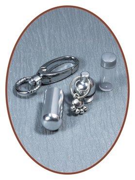 Aluminium Cremation Ash Keyring 'Pawprint'  - ALU03P