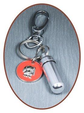 Aluminium Cremation Ash Keyring 'Dog'  - ALU03C