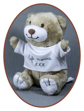 Memorial bear with the handwriting of the deceased - BE001