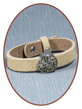Suede (Fingerprint / Text) Ladies Cremation Ash Bracelet - CU19571
