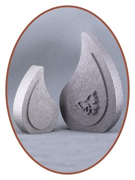 Ash Urn 'Tear' 13cm or 20cm  With or Without Decoration in Different Colors - HM310A