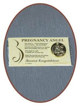 Angel Coin 'Pregnancy Angel' With Card - CARD04