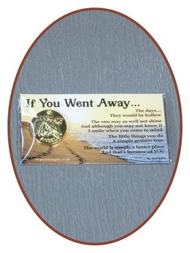 Angel Coin 'If You Went Away' With Card - CARD08