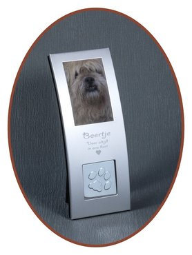 Picture / Engraving Remembrance Frame 'Paw print' with Ash Tear  - FF011