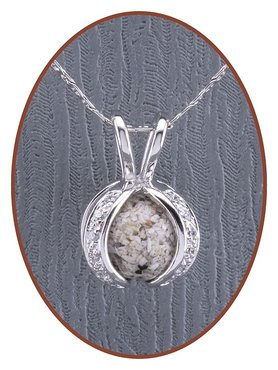 Close2Me© 925 sterling silver ash pendant 'Protected' - CM014